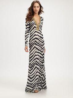 Emilio Pucci Zebra-Print Linen Dress
