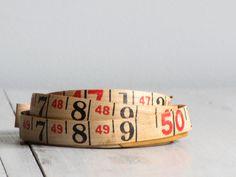 vintage tape measure - 50 ft. $18.00, via Etsy.