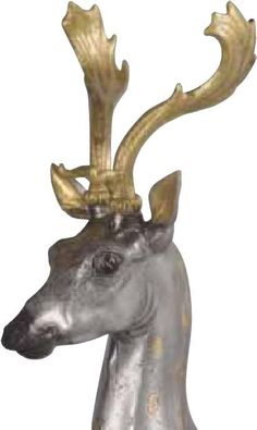Rhytons with Deer's Protome . Silver,gildin