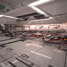3D MODEL: https://www.turbosquid.com/3d-models/sci-fi-spaceship-hangar-3d-max/1050823?referral=cermaka