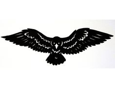 Raven with spread wings tattoo Wallpaper
