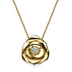 Classic and elegant pendant 14K yellow gold flower pendant. Handmade highest finishing level with beautiful design petals of the flower and quality center diamond . The perfect gift for that special occasion, or just because... to complement any look. Metal: 14K Yellow / white / Rose