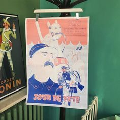 Nowow Special Edition @lepavillondescanaux 💙🍑 Poster : @alexandrebenjaminnavet #jourdefete #poster #illustration #drawing #fanzine #tati #artist #artwork #jacquestati