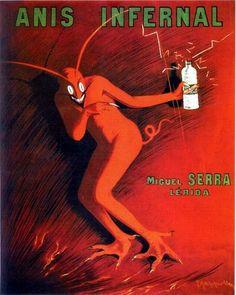 Anis Infernal red devil poster