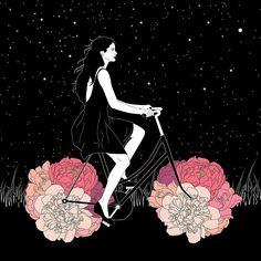 Going on a spring ride  Ilustración  By Camille Le Saulnier