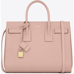 Saint Laurent Classic Small Sac De Jour Bag ($3,225) ❤ liked on Polyvore featuring bags, handbags, pink bag, yves saint laurent handbags, yves saint laurent bags, embossed purse and embossed handbags