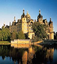 Schwerin Castle - Schwerin, Germany. If I ever get to go to any of these places I'll probably be overwhelmed by the beauty of it all and just stand there crying