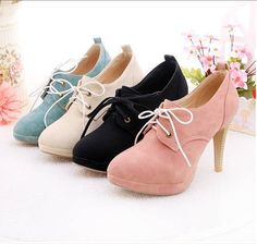 Cute, pastel oxford heels!