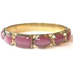 Gemstones set in handmade Lacquered Brass Pink Opal, Bangles, Bracelets, Pet Collars, Glamour, Gemstones, Chic, Classic, Metal