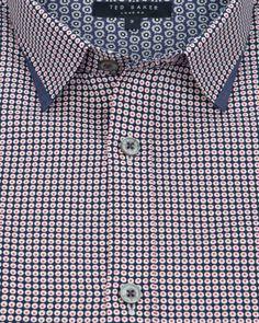Circle print shirt - Navy | Shirts | Ted Baker UK