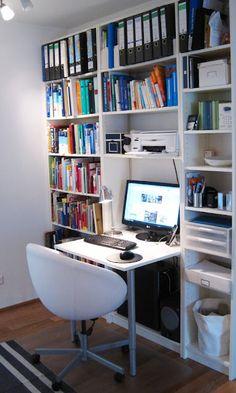 I like all the shelves - very organized.