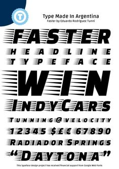 Image for Faster One font