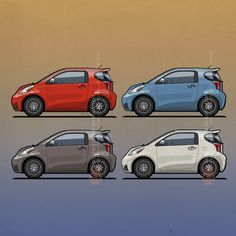 #Scion #Toyota iQ Citycars by Tom Mayer, Monkey Crisis On Mars ©2016 – All Rights Reserved