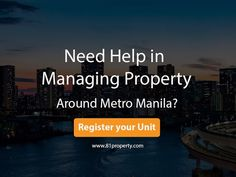 81 Property Management, Inc. Contract Management, Property Management, Business Help, Investment Property, Philippines, Investing, The Unit, Things To Sell