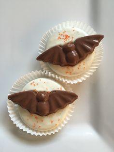 Chocolate Dipped Bat Oreo Cookies... Halloween Candy Favors www.etsy.com/shop/rosebudchocolates