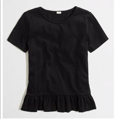 J. Crew Peplum Tee In great shape. Thicker material. So cute! Will take 20% off J. Crew bundles of 3 or more! Factory. J. Crew Tops