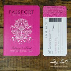 DIY Passport Save the Dates | Save the Date/Wedding invites