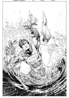 Superman Unchained #5 variant cover by Guillermo Ortego, inks by Ardian Syaf *