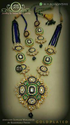 Jewellery Sketches, Neck Piece, Pendant Set, Indian Jewelry, Handcrafted Jewelry, Pakistani, Jewelry Crafts, Jade, Jewlery