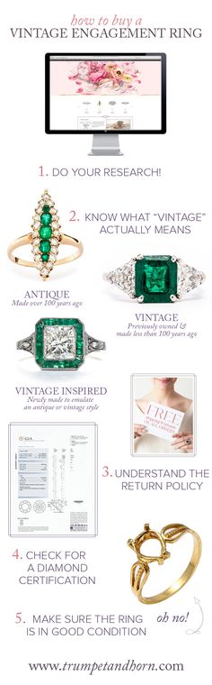 how to buy a vintage engagement ring