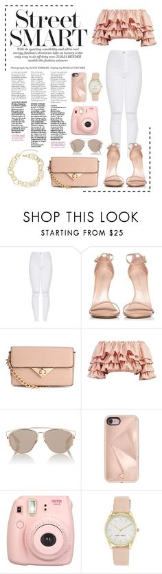 """Daily Outfit"" by catarinaferreira-cf ❤ liked on Polyvore featuring Stuart Weitzman, Boohoo, Christian Dior, Rebecca Minkoff, Fujifilm, Nine West and Jardin"