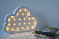 Chambre veilleuse - nuage, lumière Marquee, décor à la maison, les enfants à piles (1/1/SB)