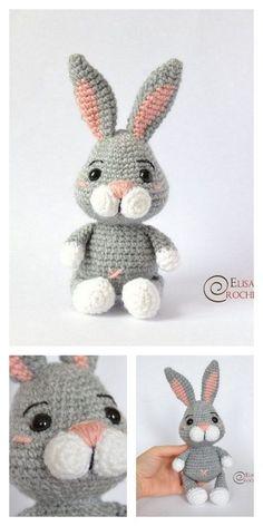 Crochet Bunny Pattern, Crochet Amigurumi Free Patterns, Crochet Animal Patterns, Stuffed Animal Patterns, Crochet Dolls, Stuffed Animals, Crochet Animal Amigurumi, Softie Pattern, Easter Crochet