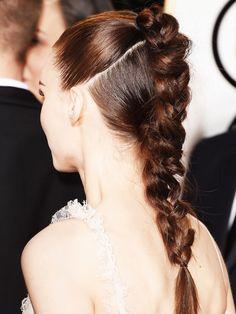Der geflochtene Doppelzopf von Rooney Mara war eine der schönsten Frisuren des Golden Globes Abends.