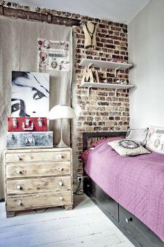 Vintage muurtje in een nieuw huis… | Maison Belle
