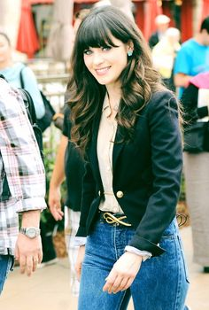 Zooey Deschanel- Absolutely adorable in 90s jeans. I don't usually like the look of any pants from the 90's on back, but Zooey makes them look gorgeous! <3