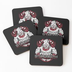 'Strength Be Committed To Yourself Graphic Angry Bull' Coasters by Gym Motivation Quotes, Coaster Set, Motivational Quotes, Strength, My Arts, Art Prints, Printed, Awesome, Fitness