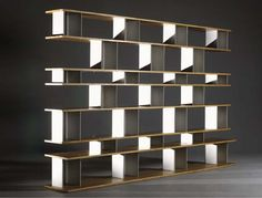 Bookcase, Manufactured by Les Ateliers Jean Prouvé, Editioned by Galerie Steph Simon, France, c.1960