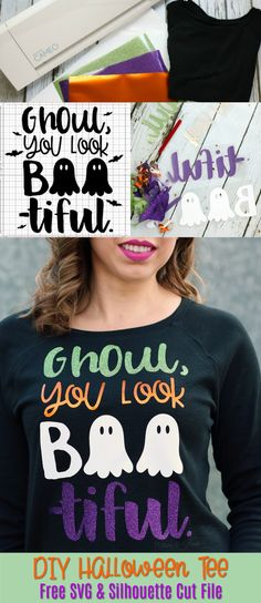 389c3b1c Make this DIY Halloween T-Shirt using your Silhouette Cameo or Cricut, heat  transfer