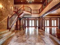 Full Marble Entryway with elaborate marble staircase