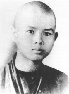 A young, Thich Nhat Hanh.