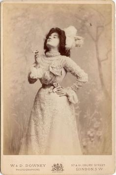 Naughty lady having a smoke   1890's fashion in photographs ...