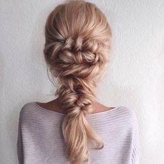 mermaid braid | beautiful | long hairstyle | twist | fishtail | blonde