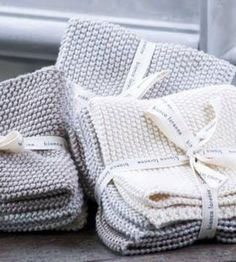 Knitted Dishcloths | Set of 3 from Father Rabbit