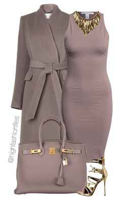 """""""Cohesive"""" by highfashionfiles ❤ liked on Polyvore featuring L.K.Bennett, NLY Trend, Hermès and Giuseppe Zanotti"""