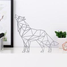 Origami 3D-Motiv aus Holz in vielen verschiedenen Farben erhältlich.
