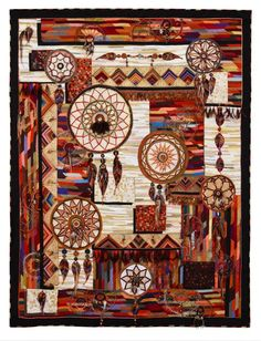 Art Quilts (Representational) 3rd Place: Time to Catch a Dream by Claudia Pfeil. 2013 Northwest Quilting Expo.