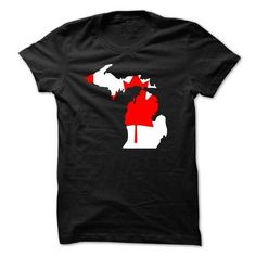 Living in Michigan but from Canada? - #shirt skirt #tshirt drawing. CHECK PRICE => https://www.sunfrog.com/States/Living-in-Michigan-but-from-Canada.html?68278