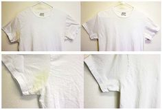 Remove yellowing t-shirt stains with baking soda, dawn, and hydrogen peroxide - MyHomeLifeMag.com