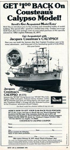 1976 Revell Jacques Cousteau Calypso Model Advertising Boys Life magazine November 1976   Flickr - Photo Sharing!