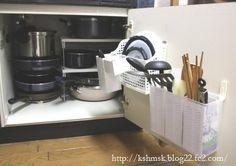 鍋のふたの収納 ふたたび・・・(;^ω^) - キッチン