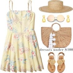 Under $100: Summer Dresses--TFS posted by:https://www.instagram.com/polyvore/