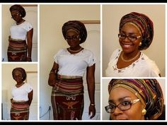 How to tie Gele: Bridal style II - YouTube How To Tie Gele, Wrap Style, My Style, African Head Wraps, Ethnic Hairstyles, African Beads, African Attire, Headgear, Bridal Style