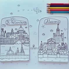 paper St. Peterburg and Moscow