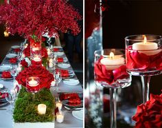 In love with this amazing tablescape by http://hilarymiles.com. Photo by http://reineweddings.ca on http://WedOverHeels.com