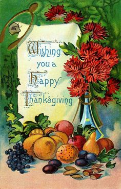 💕🌈💗Wishing You a Happy Thanksgiving vintage printable postcard for de orating. Thanksgiving Greeting Cards, Thanksgiving Pictures, Thanksgiving Blessings, Happy Thanksgiving Day, Vintage Thanksgiving, Vintage Holiday, Thanksgiving Quotes, Vintage Fall, Thanksgiving Recipes